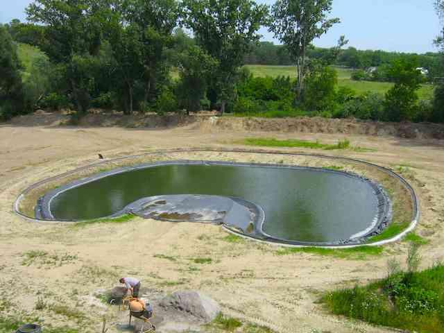 Tó, élő-tó építés menete