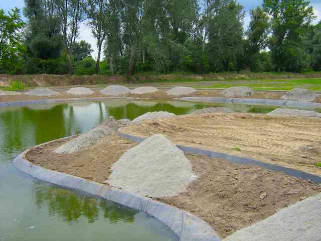 Tóépítés, tópart kialakítás menete