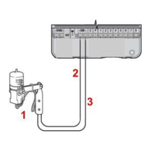 Esőérzékelő bekötése öntözőrendszer vezérlő automatikához