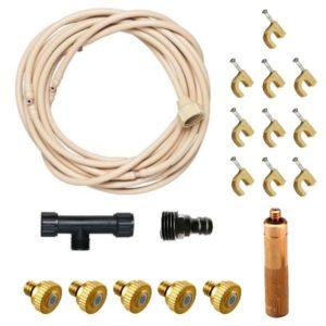 """Orbit Basic teraszhűtő alapszett 6 fúvókával (max.8bár; 15m-ig bővíthető; 3+3m – cső+fúvóka; 3/8"""" csőméret; UV áló)"""