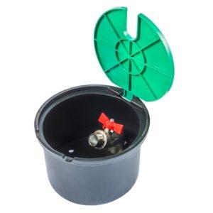 """Műanyag süllyeszthető csapszekrény fém csappal 3/4""""x3/4"""" BK"""