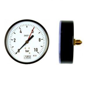 """Nyomásmérő óra 0-10Bár, 1/4""""KM hátsó bekötésű"""