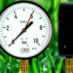 Nyomásmérő óra 1/4″KM 0-10Bár/ alsó bekötésű