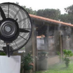 Falra szerelhető hűtő-párásító ventilátor víztartállyal 26col/65cm