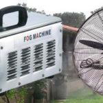 Nagynyomású teraszhűtő, párásító rendszer 4 hűtő ventilátoros / 70bár