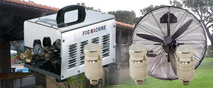 Nagy nyomású vonalsoros párásító rendszer hűtő ventilátorral 70bár