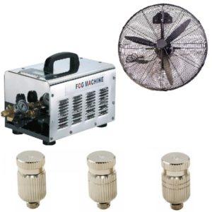 Nagynyomású vonalsoros párásító rendszer hűtő ventilátorral 70bár