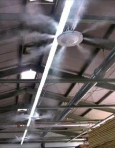 Eurojet Mennyezeti Teraszhűtő Ventilátor, 4 Ventilátoros Kültéri-Beltéri Párásító Ventilátor
