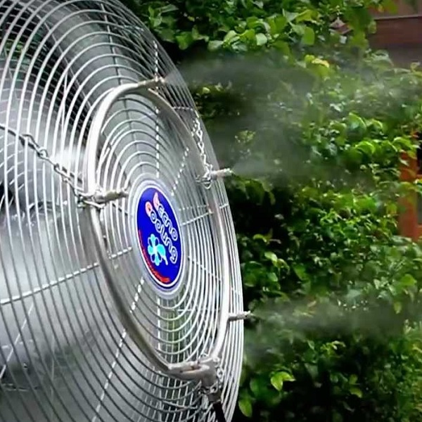Tecnocooling Premium Teraszhűtés, kültéri klíma 10 párásító ventilátorral
