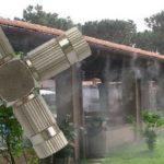 Nagy nyomású párásító fej 4 teraszhűtő fúvókához 10/24″ KB / 70 bár