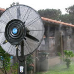 Nagynyomású Mobil Teraszhűtő – Párásító Ventilátor Víztartállyal Távirányítóval